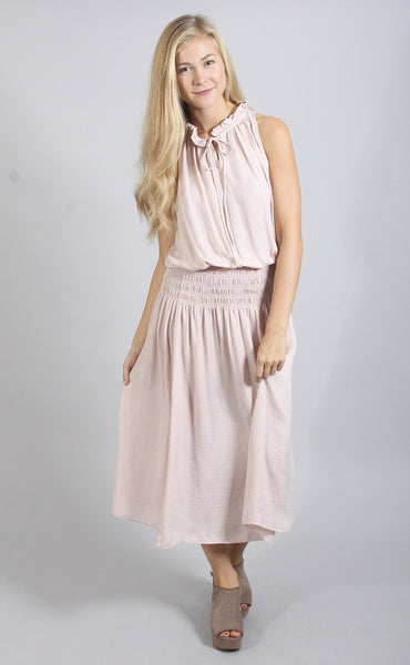 take your time midi dress - blush