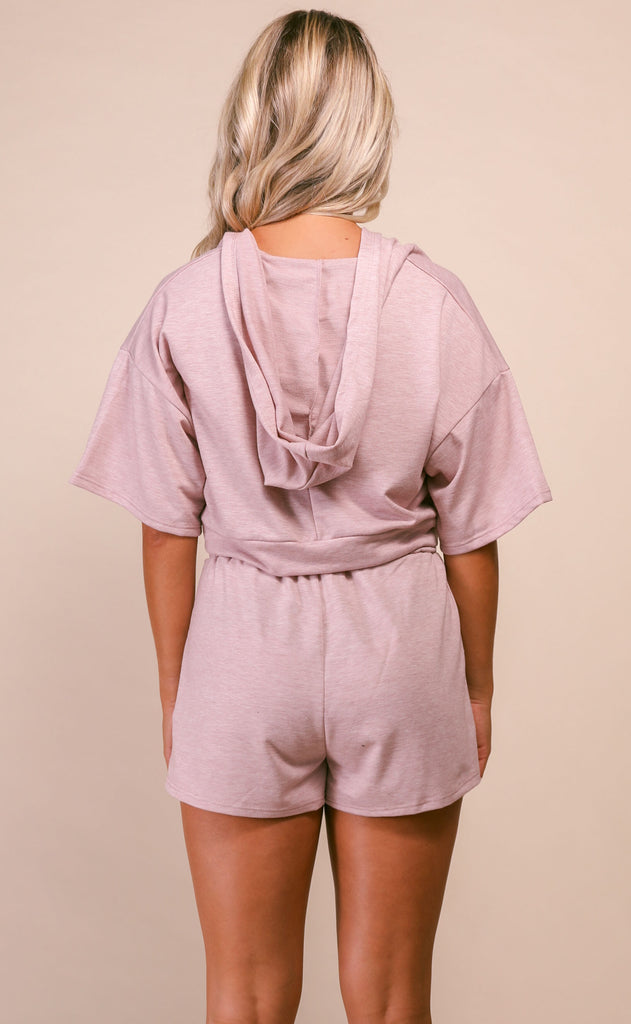 take the trail hoodie top and shorts set
