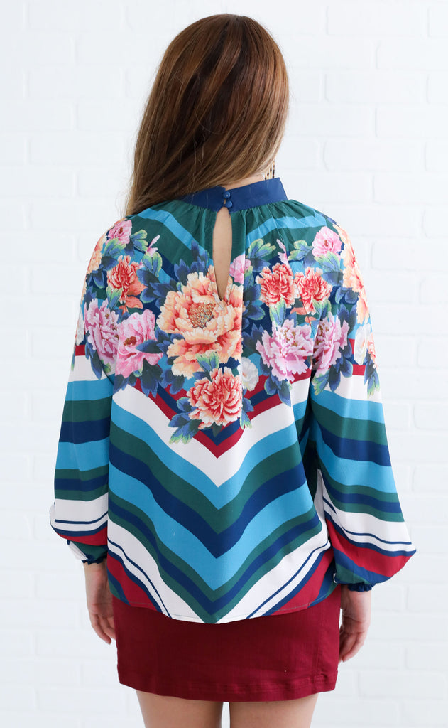 talk to me floral top