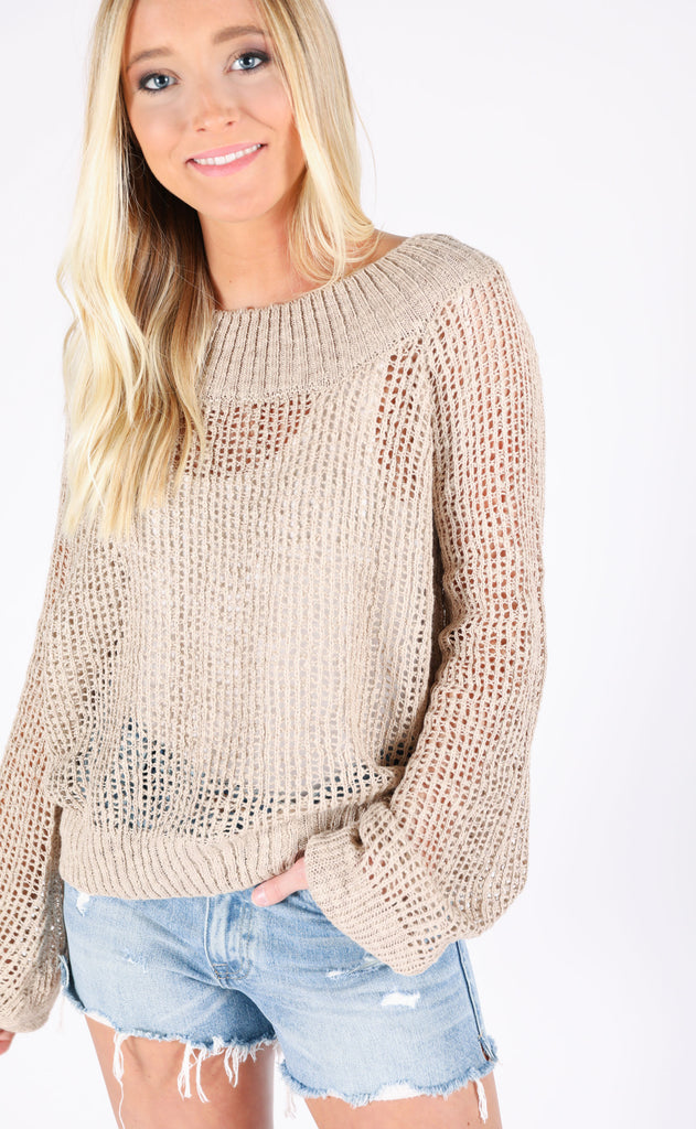 tampa open knit sweater