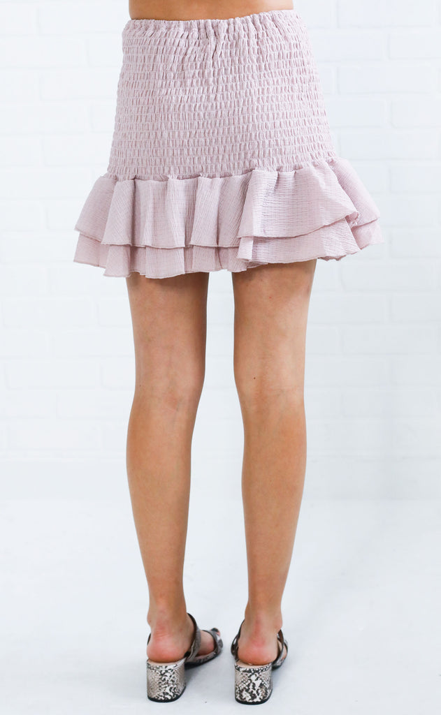 tea and crumpets mini skirt - lavender