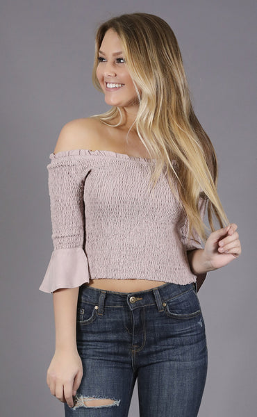 tell it all off shoulder top