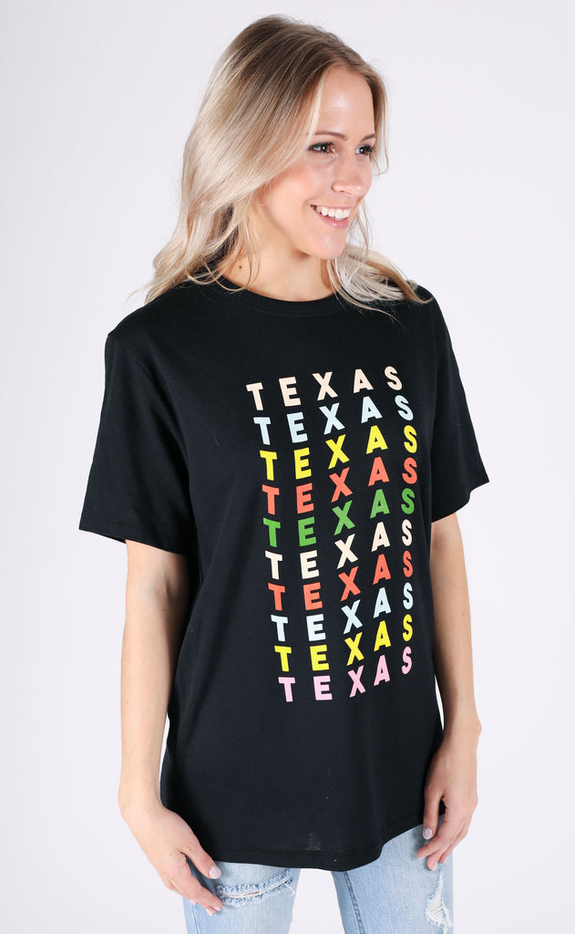 charlie southern: rainbow party state t shirt - texas