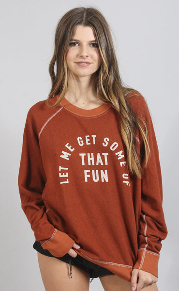mate the label: cruz pullover - let me get some fun