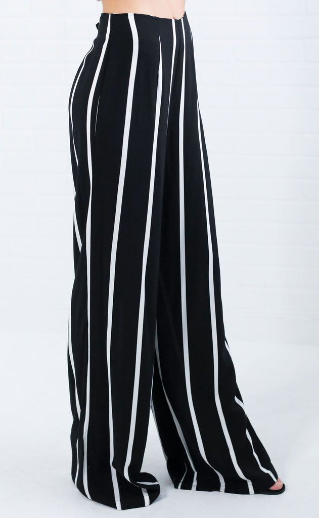the stripe one flared pants