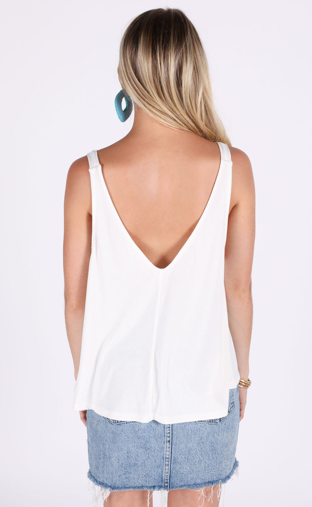 think basic tank top - ivory