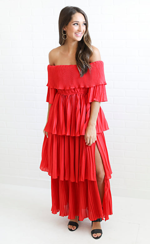 tier it up pleated dress
