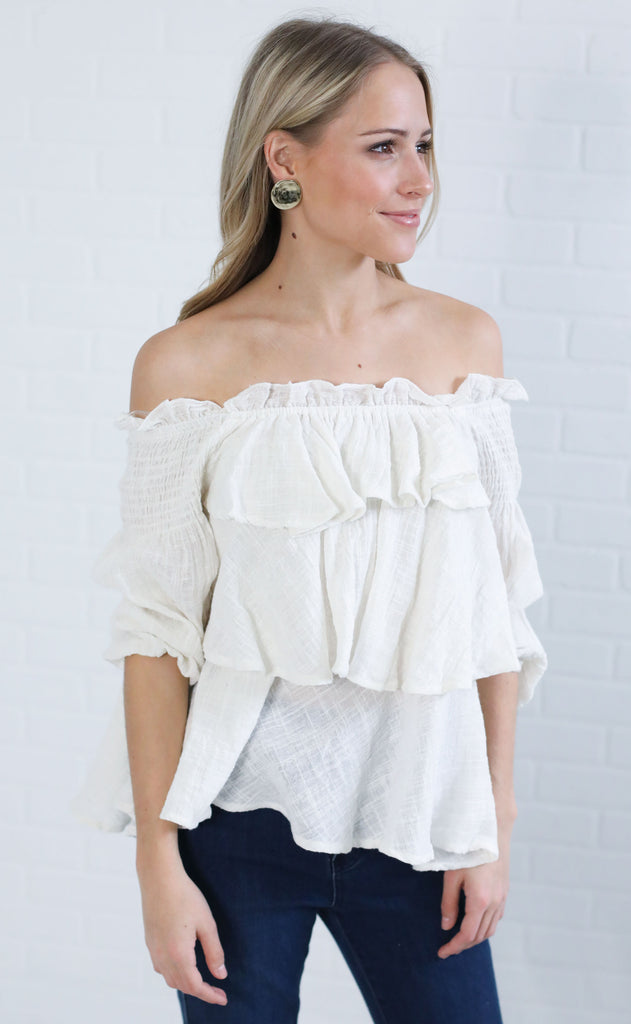 tiered up ruffle top
