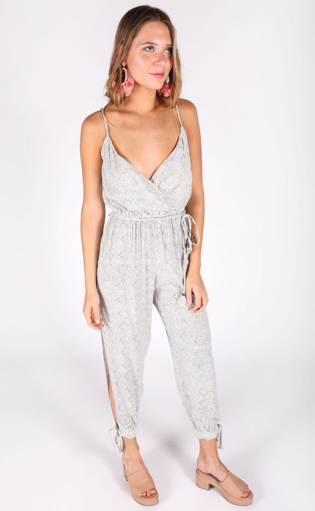 tiki time printed jumpsuit