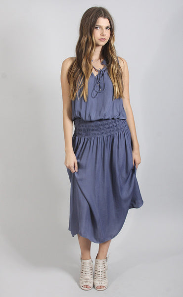 take your time midi dress - blue