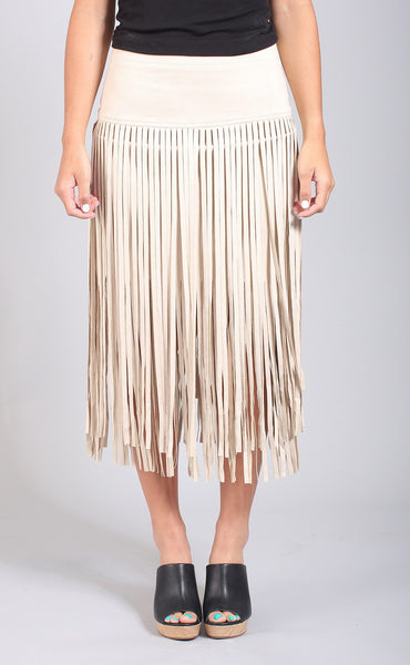 time to twirl fringe skirt