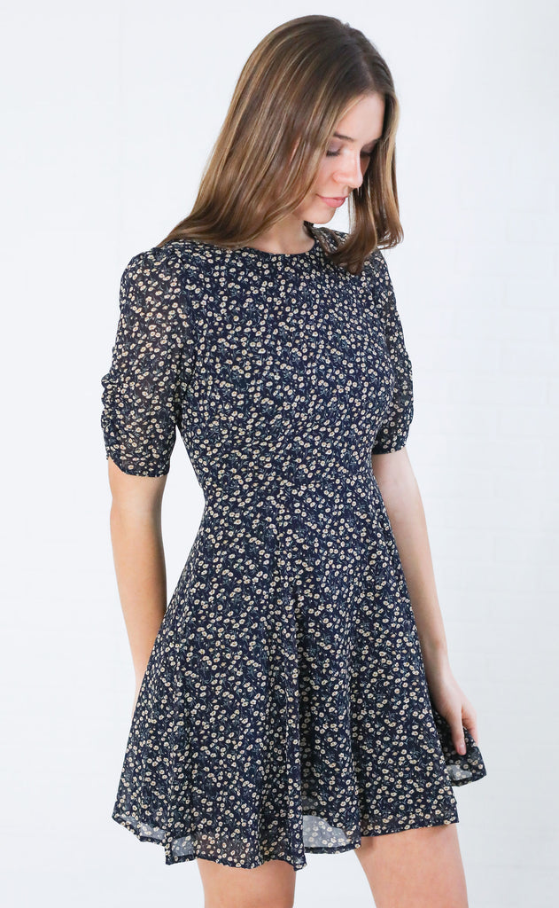 tiny flowers printed dress