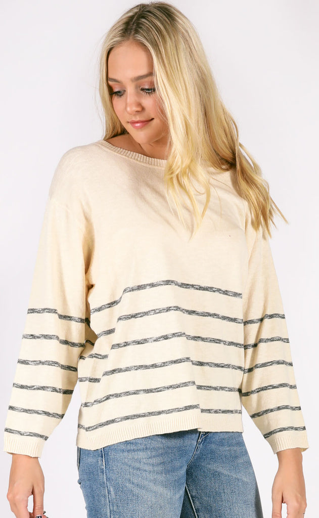 toasty striped sweater