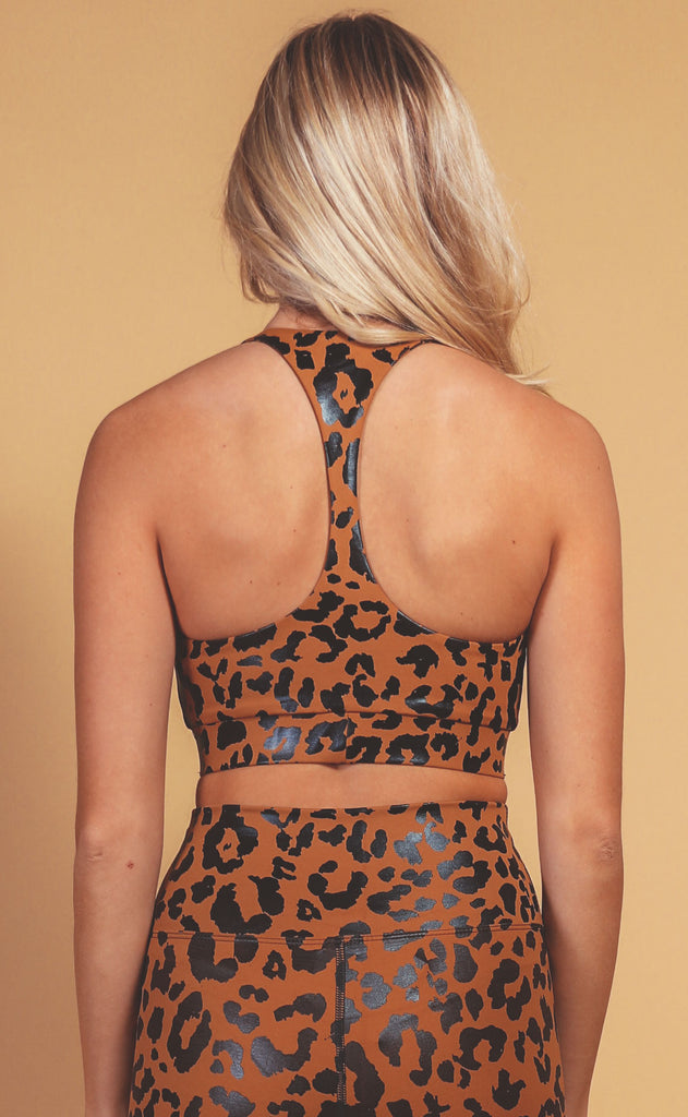 beach riot: twist top - leopard