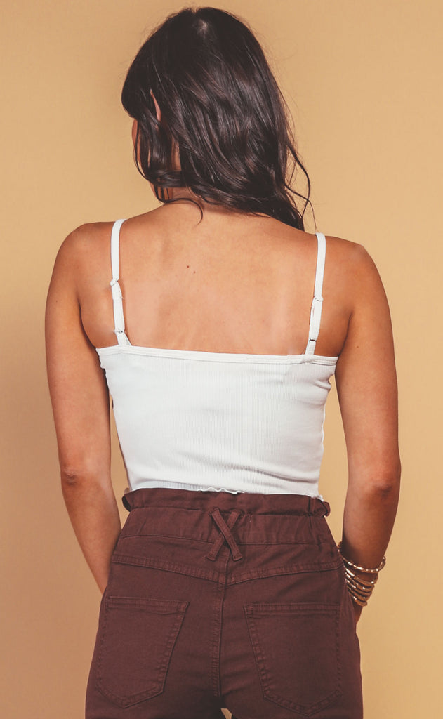 basically perfect crop tank - ivory