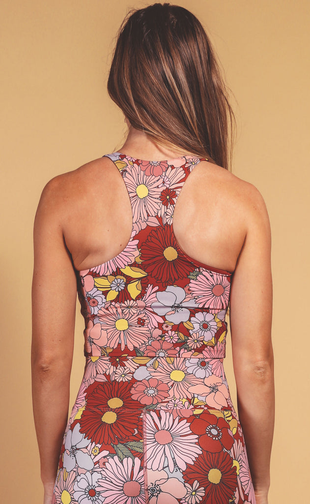 beach riot: ruby top - marsala floral