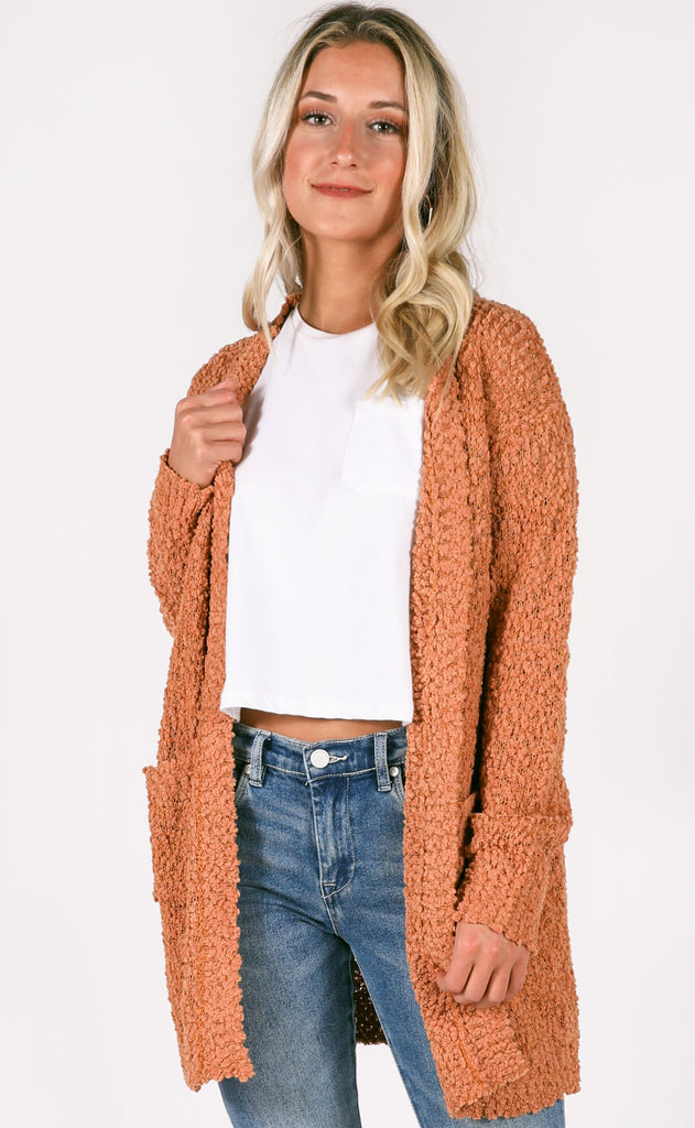 top notch oversized cardigan - butterscotch