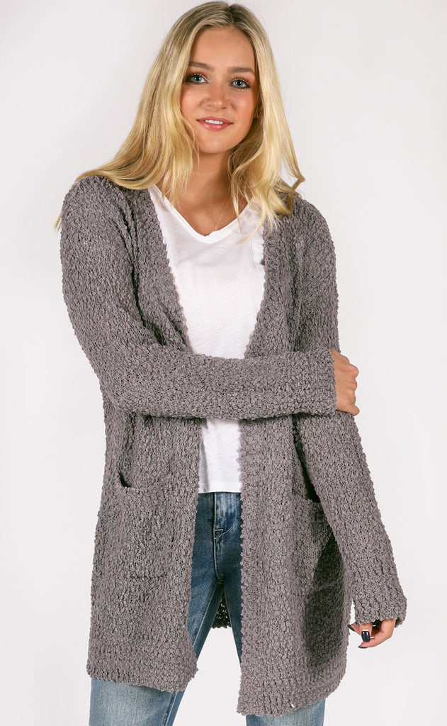 top notch oversized cardigan - mocha