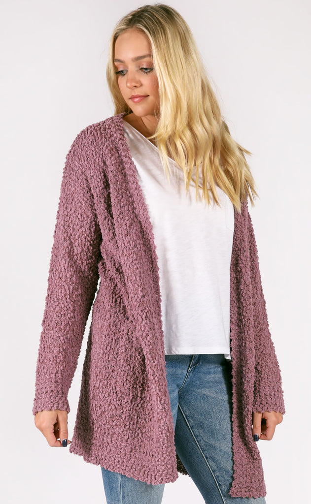 top notch oversized cardigan - maroon