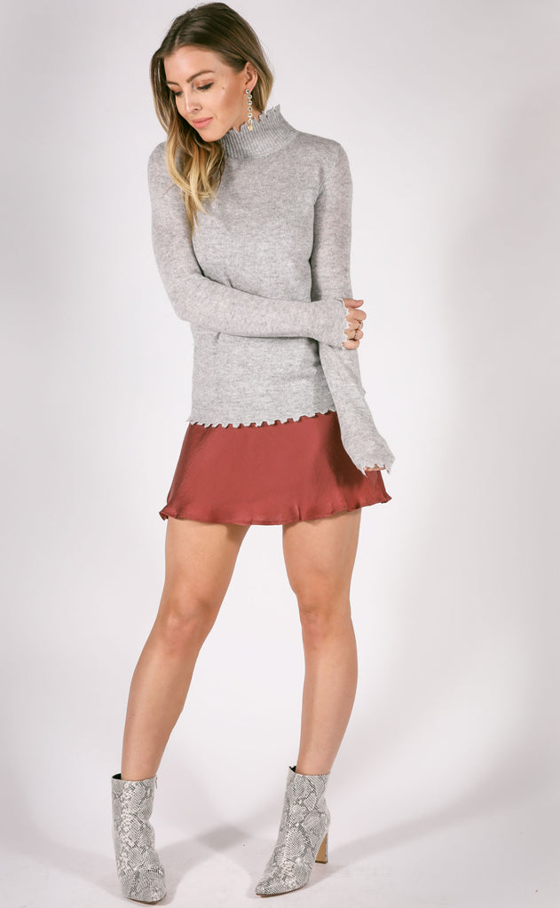 tough love distressed sweater