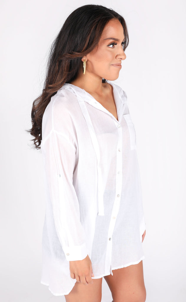 treasure island linen shirt