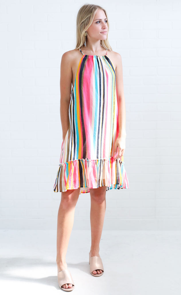 tropical tango striped dress