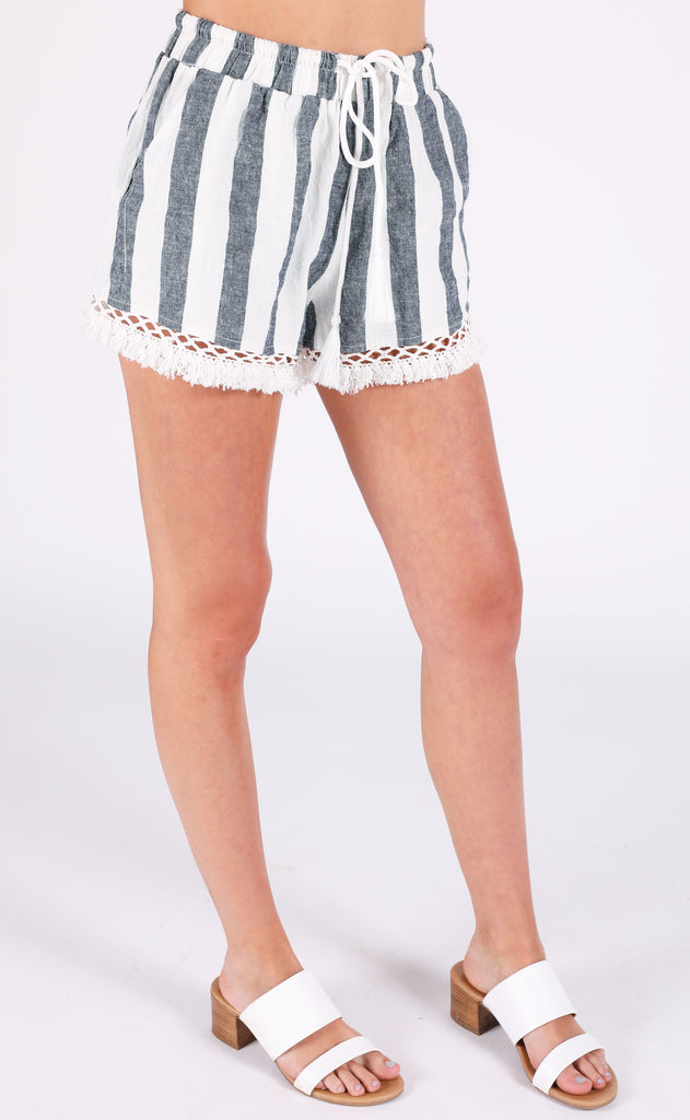 turks and caicos striped shorts