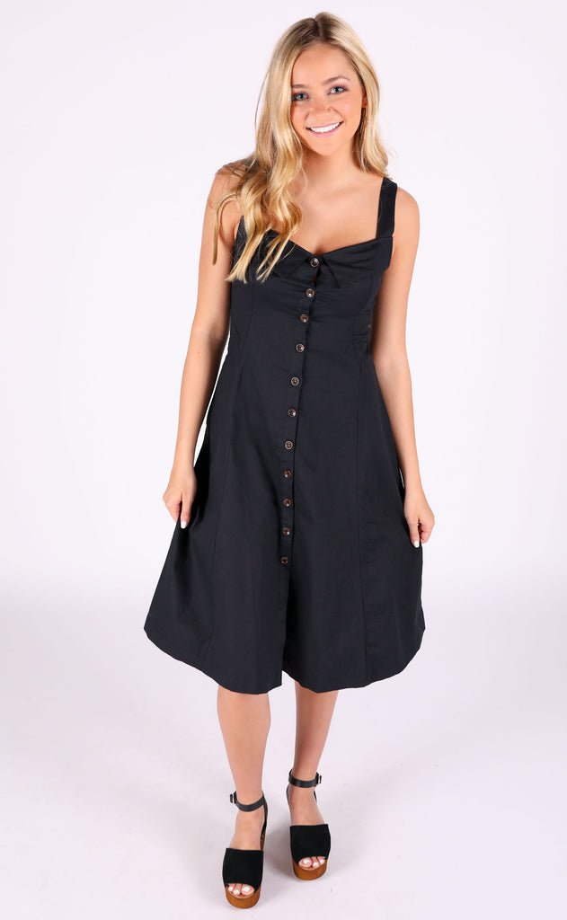 twirl time button up dress