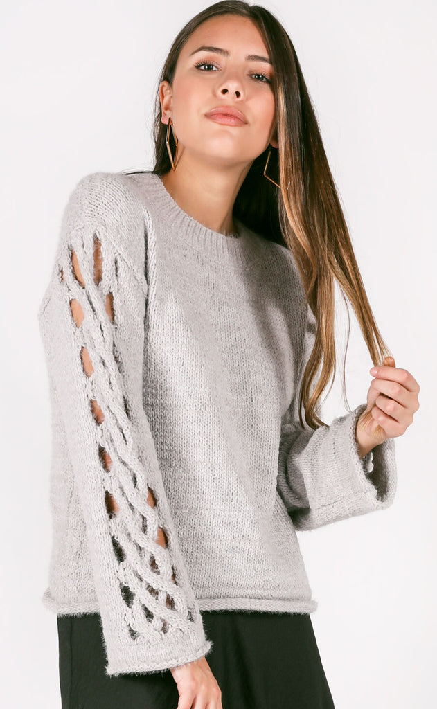 twisted knit sweater