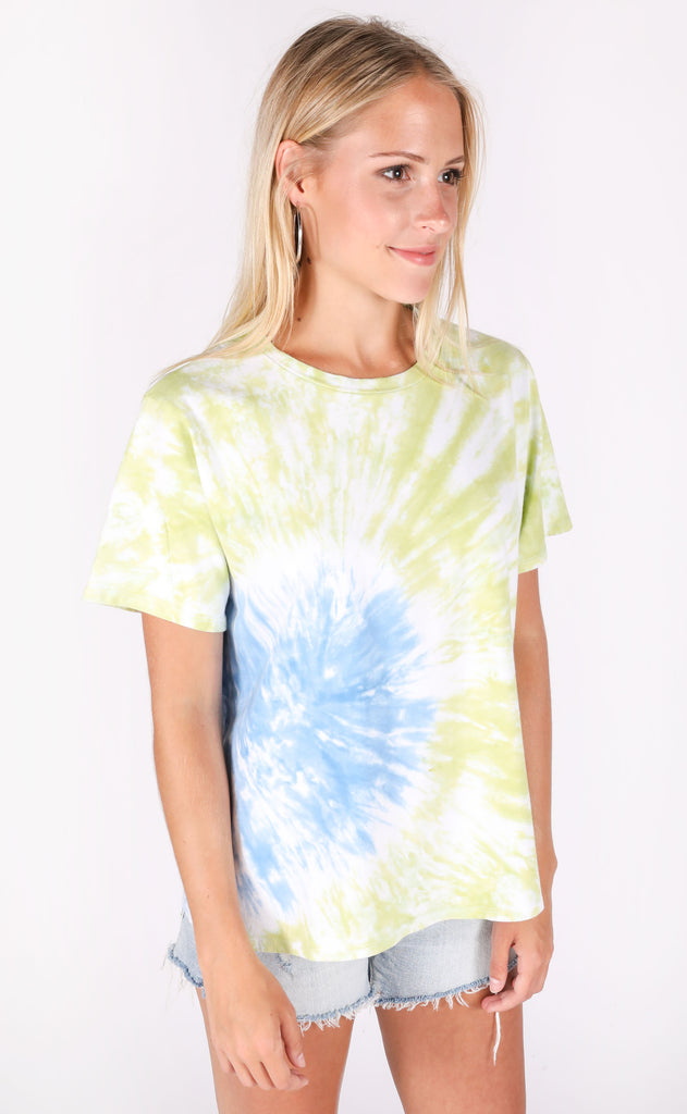 two toned tie dye tee