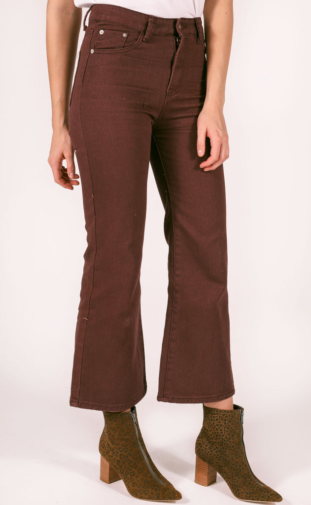 under the radar crop jeans - wine