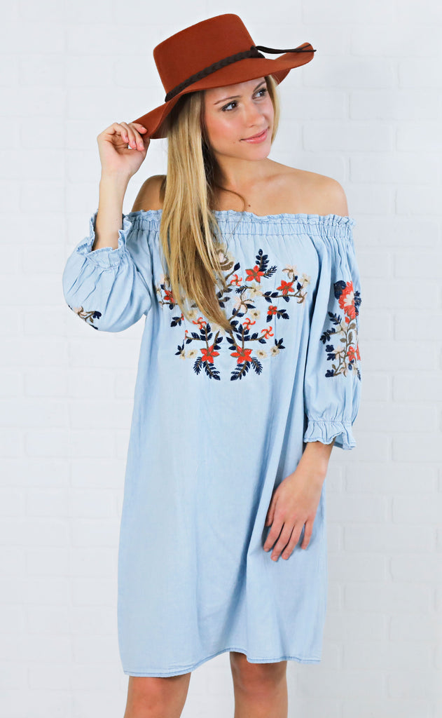 under the sun embroidered dress