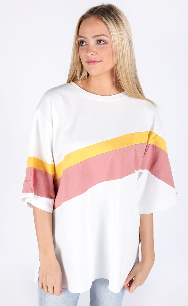 under the sun oversized top - ivory