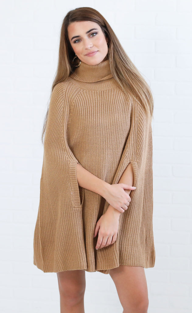 upper east side poncho sweater