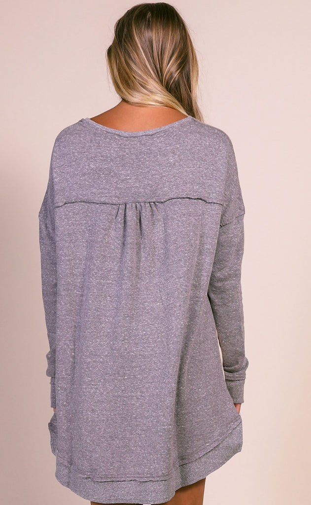 z supply: the triblend vacay pullover - heather grey