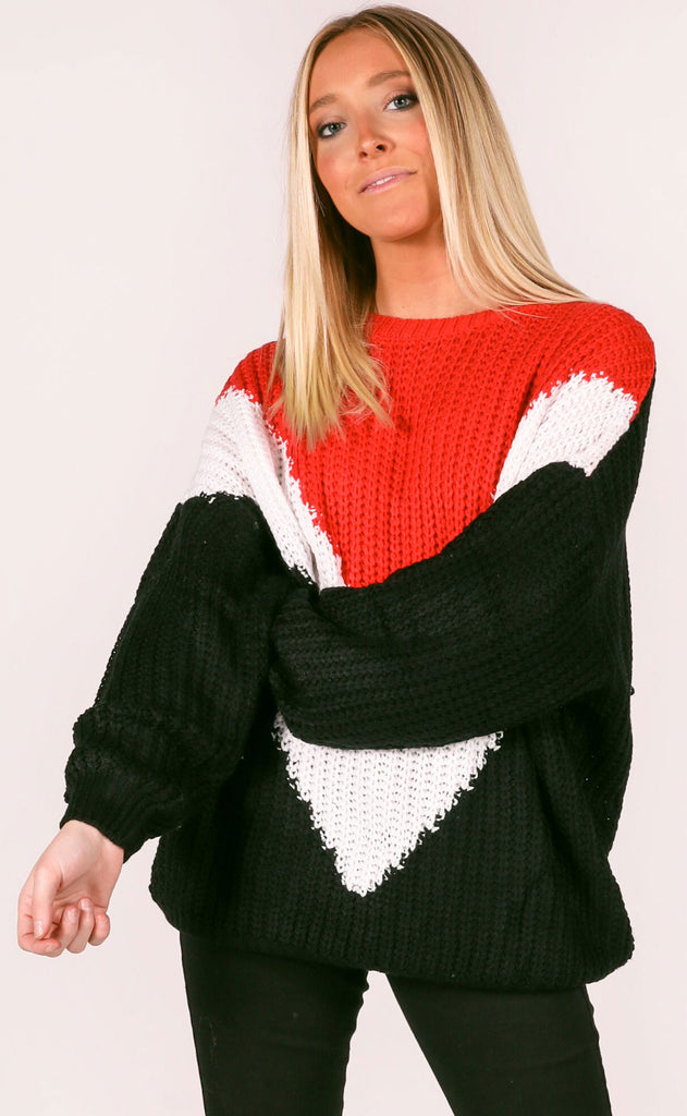 varsity vibe oversized sweater