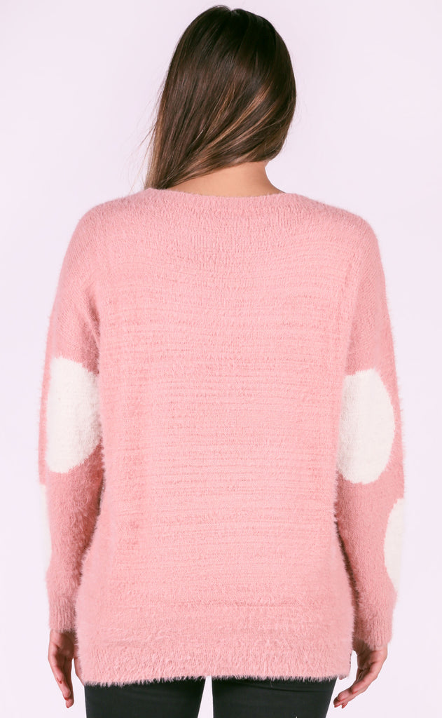 vintage rose knit sweater