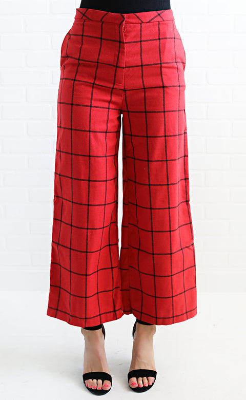 vintage vibes plaid pants