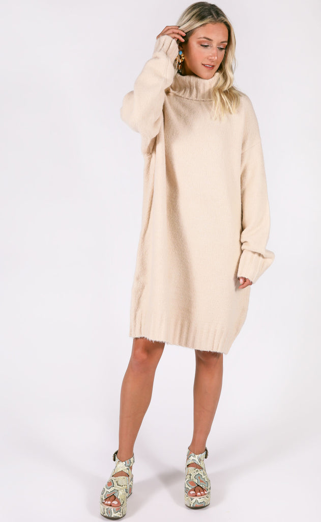 walk in the park sweater dress - ivory