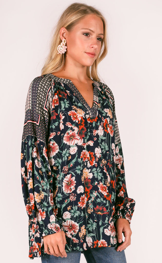 wallflower printed top