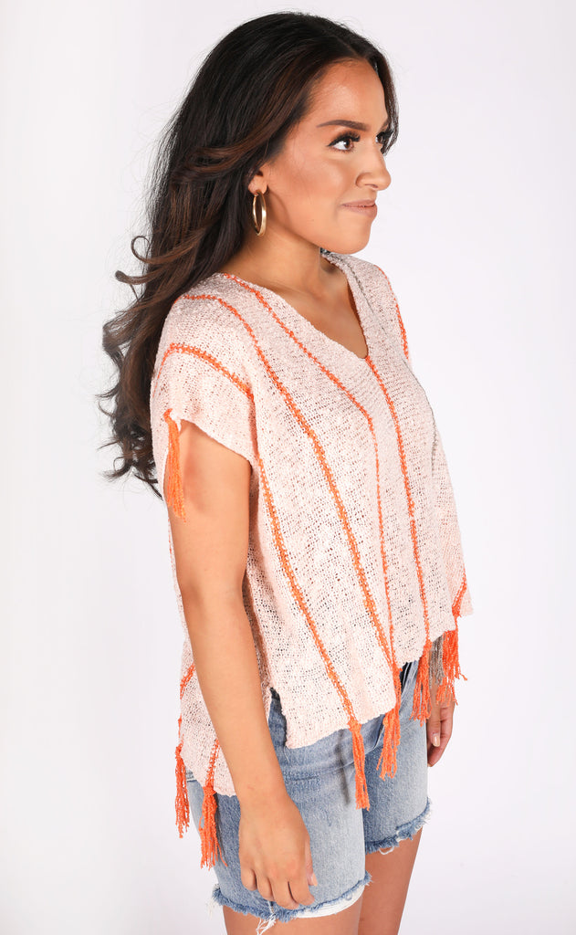 warm and sunny knit top