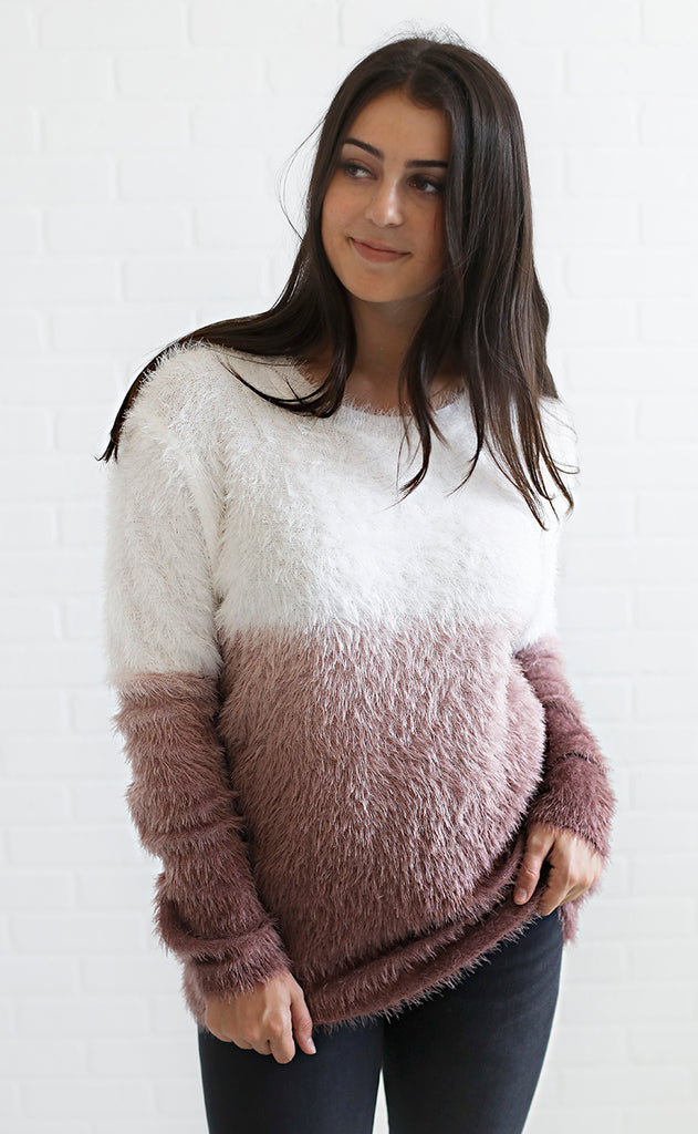 warm fuzzies oversized sweater
