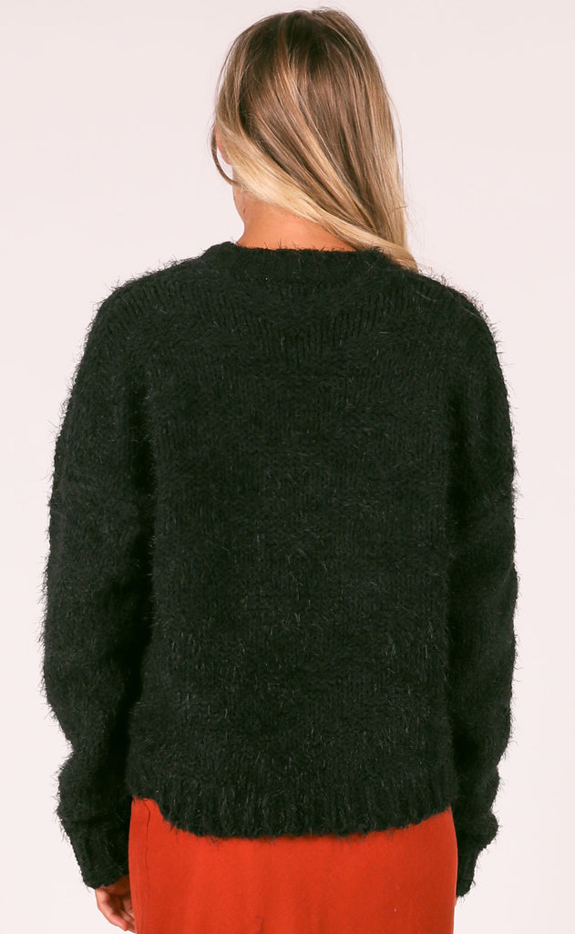 warm me up knit sweater - black