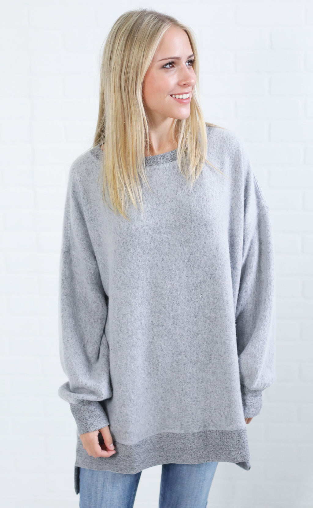 warm up oversized pullover