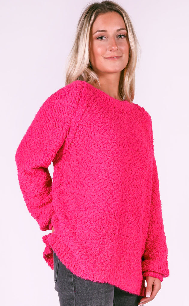 warm welcome knit sweater