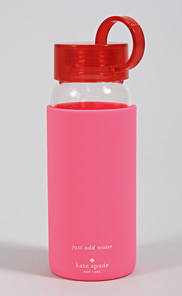 kate spade: water bottle - red & pink