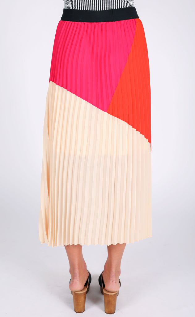 watercolor pleated skirt