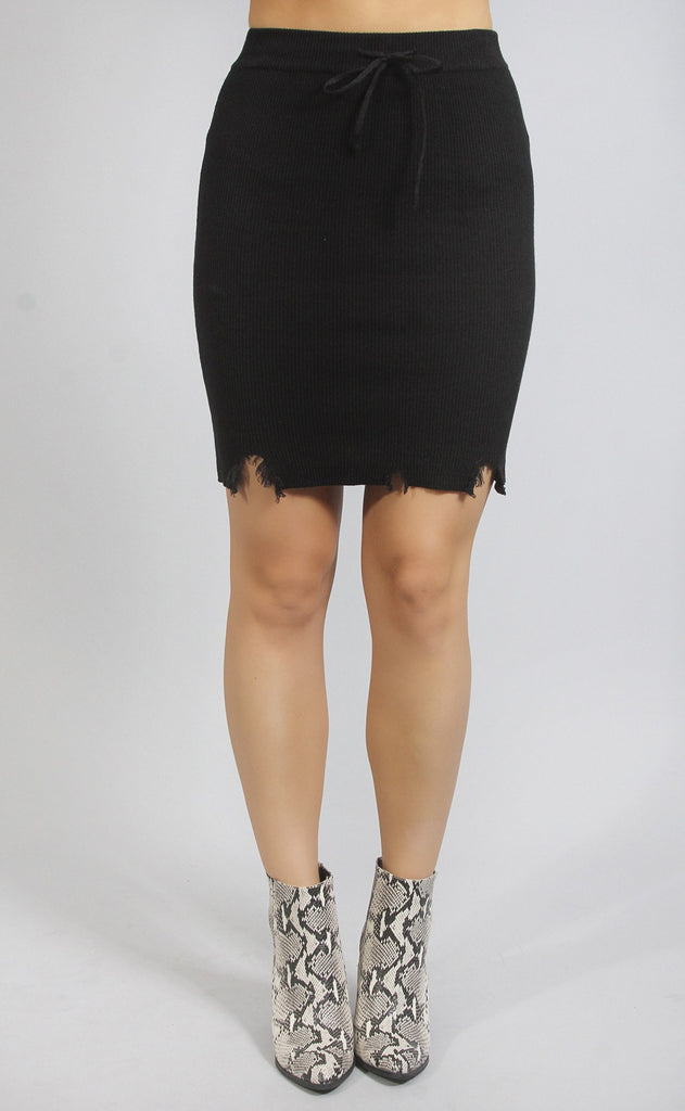 wear and tear ribbed skirt