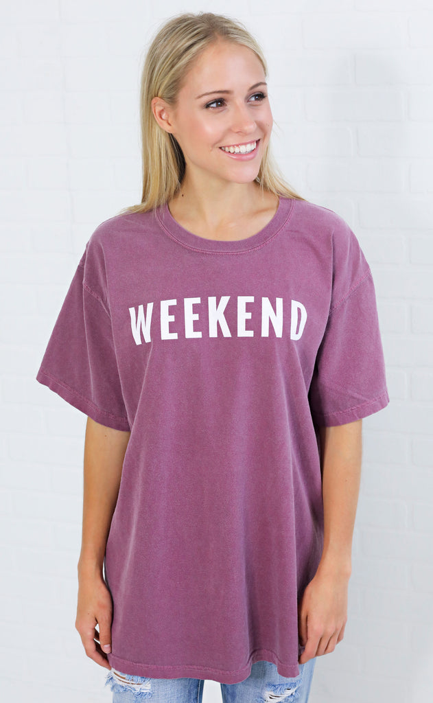 friday + saturday: weekend t shirt