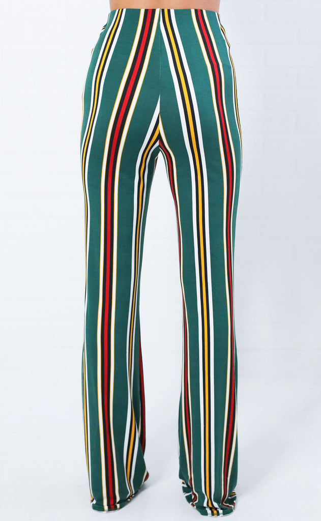 west side striped pants
